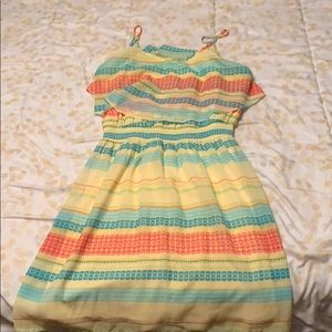 Maurices yellow, teal, and orange tank dress